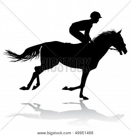 Jockey On Horse 3