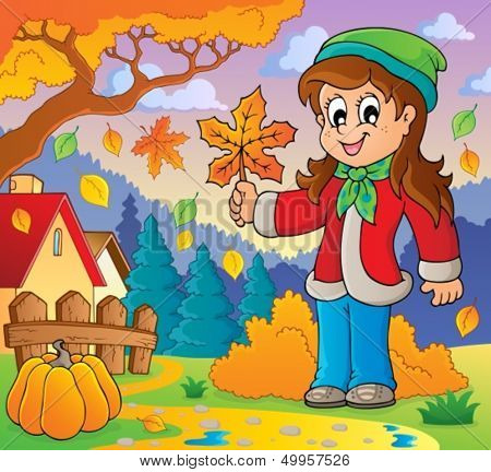 Autumn thematic image 8 - eps10 vector illustration.