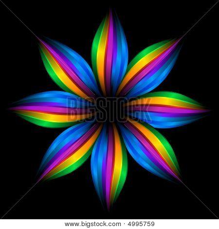 Abstract Rainbow Flower