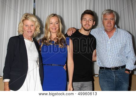 LOS ANGELES - AUG 24:  Alley Mills, Jennifer Gareis, Scott Clifton, John McCook at the Bold n Beautiful QnA and Autograph Event  at the Universal Sheraton Hotel on August 24, 2013 in Los Angeles, CA