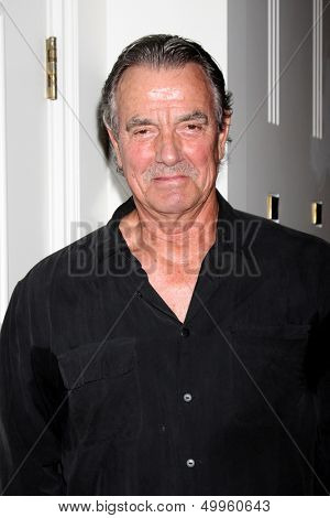 LOS ANGELES - AUG 24:  Eric Braeden at the Young & Restless Fan Club Dinner at the Universal Sheraton Hotel on August 24, 2013 in Los Angeles, CA