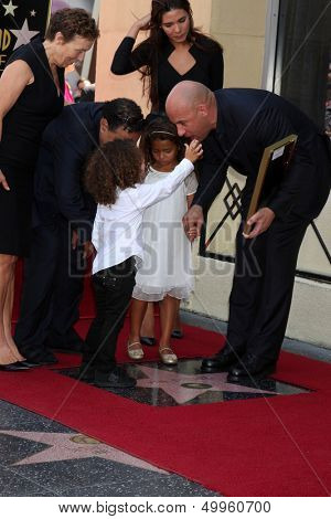 LOS ANGELES - AUG 26:  Hania Riley Diesel, Vin Diesel, Vincent Diesel, family at the Vin DIesel Walk of Fame Star Ceremony at the Roosevelt Hotel on August 26, 2013 in Los Angeles, CA