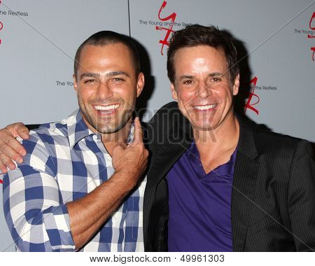 LOS ANGELES - AUG 24:  Marco Dapper, Christian LeBlanc at the Young & Restless Fan Club Dinner at the Universal Sheraton Hotel on August 24, 2013 in Los Angeles, CA
