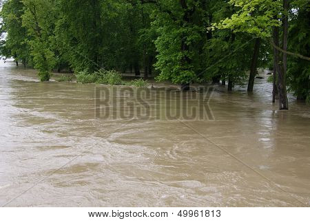 Flood in park
