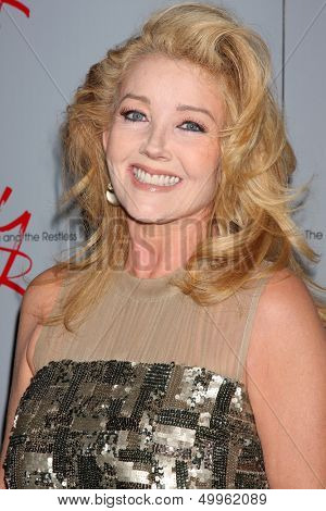 LOS ANGELES - AUG 24:  Melody Thomas Scott at the Young & Restless Fan Club Dinner at the Universal Sheraton Hotel on August 24, 2013 in Los Angeles, CA