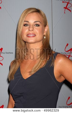 LOS ANGELES - AUG 24:  Jessica Collins at the Young & Restless Fan Club Dinner at the Universal Sheraton Hotel on August 24, 2013 in Los Angeles, CA