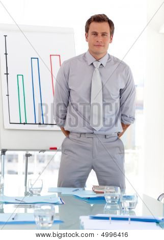 Business Teacher Standing In Front Of Class