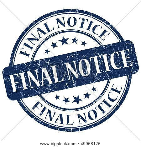 Final Notice Blue Stamp