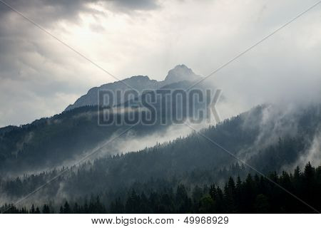 Stormy Weather In Mountains