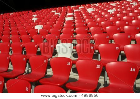 Red Tribune Seats in a stadium