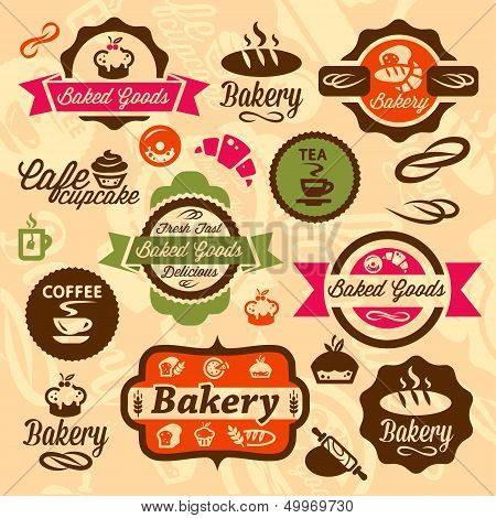bakery badges and label