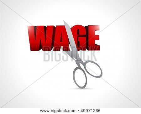 Cutting Wage. Illustration Design