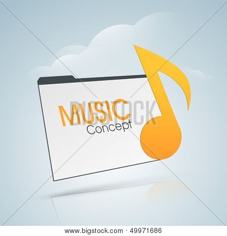 Musical background with musical notes.