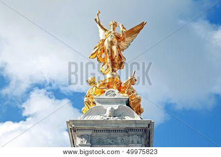 Closeup Queen Victoria Memorial at Buckingham Palace , London England UK