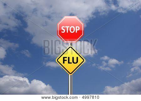 Stop Flu Signpost