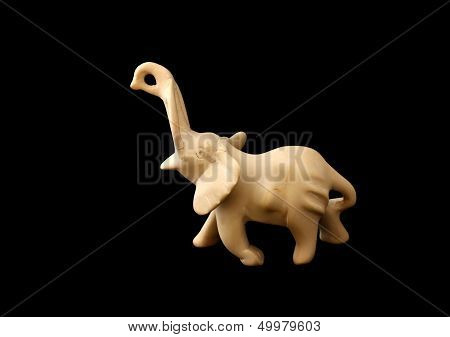 Figure Of An Elephant Made Of Stone;