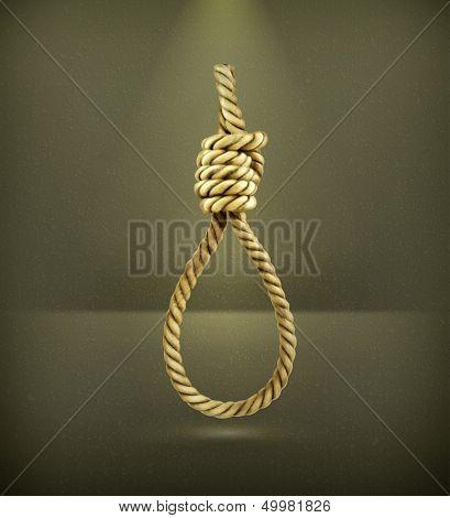 Hangman's knot, vector
