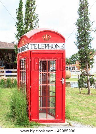 Single Red Phone Box