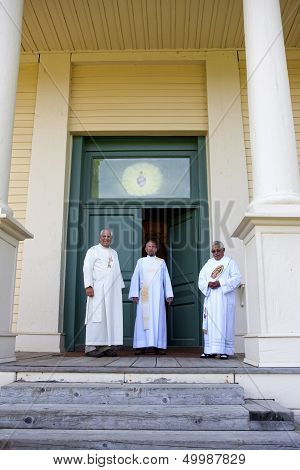 Jesuit Priests At Cataldo Mission.