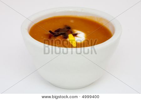 Spiced Chilled Carrot Soup With Yogurt And Ginger
