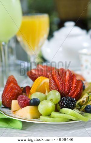 Café da manhã frutas