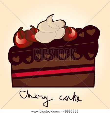 Pice of Chery cake