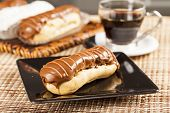 stock photo of eclairs  - Bomba de chocolate - JPG
