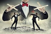 image of male-domination  - Image of young businessman puppeteer - JPG