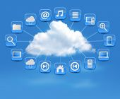 Cloud Computing concept background with icons. Vector illustration.