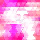 stock photo of triangular pyramids  - Triangles mosaic vector background - JPG