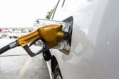picture of gasoline station  - Close - JPG