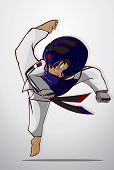 picture of karate-do  - Create cartoon taekwondo martial art - JPG