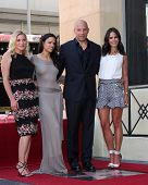 LOS ANGELES - AUG 26:  Katee Sackhoff, MichelleRodguez, Vin Diesel, Jordana Brewster at the Vin DIes