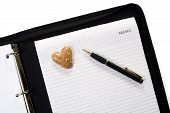 Gingerbread Heart On Business Folder