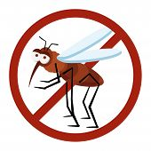picture of malaria parasite  - danger sign mosquito of dengue warning advice - JPG