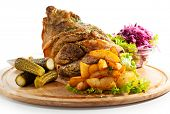 picture of pickled vegetables  - Pork Hock with Pickled Vegetables and Potato - JPG