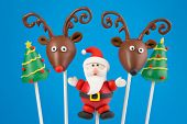 stock photo of rudolph  - Christmas cake pops - JPG
