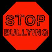 picture of stop hate  - red stop bulling sign on black background illustration - JPG