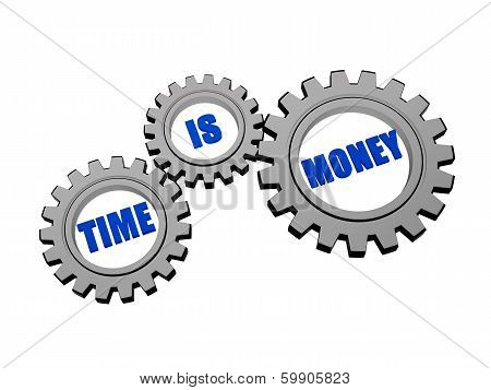 Time Is Money In Silver Grey Gears