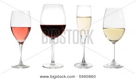Wines Collection Isolated On White