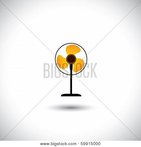 Abstract Colorful Table Fan Vector Icon