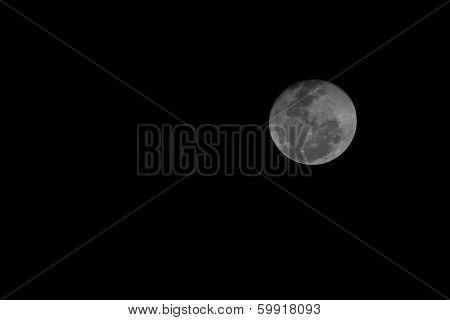 Beautiful full Moon at 99% its size