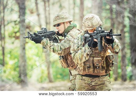 Two British Soldiers In A Fight