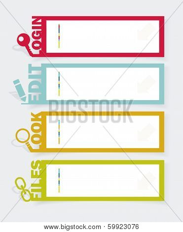 Web Panel Set. Infographics Number Options Template. Vector.