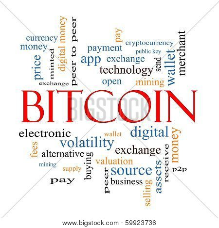 Bitcoin Word Cloud Concept