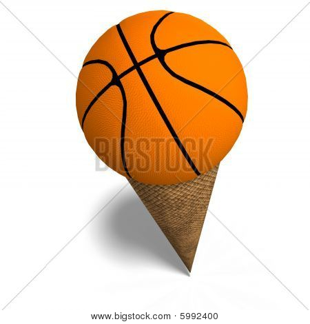 Basketball In An Ice Cream Cone
