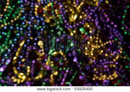 Abstract Mardi Gras Beads