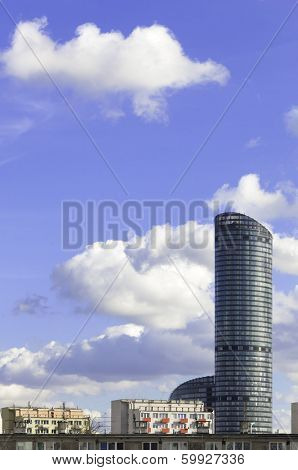 High-rise building at noon