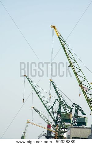 Crane In The Industry.