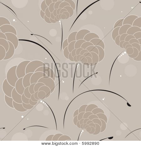 Seamless background in coffee colors